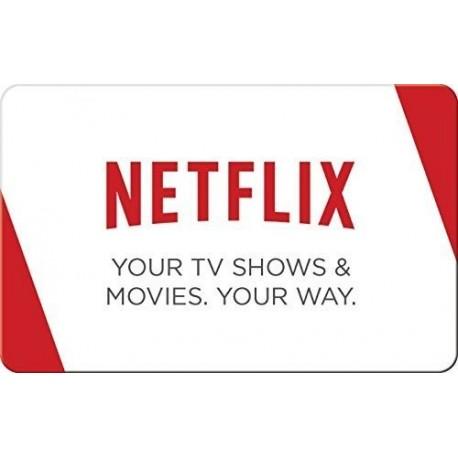 Netflix Gift Cards - Envios al E-mail o Whatsapp