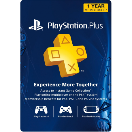 12 Meses - PlayStation Plus - PS3/PS4/PS Vita (EEUU)