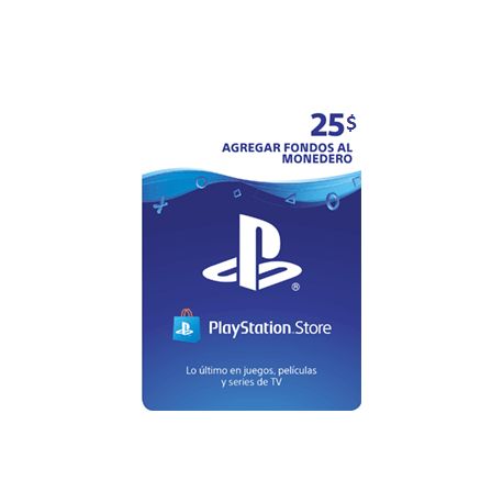 25$ - PlayStation Store Gift Card - PS3/ PS4/ PS Vita [RECARGA MONEDERO] - (PY)