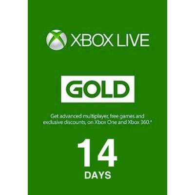 14 dias - Xbox Live Gold...