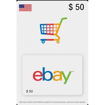 50$ - eBay Gift Card (EEUU)