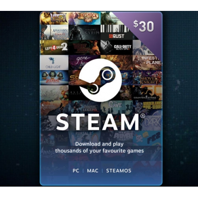 30$ - Steam Gift Card