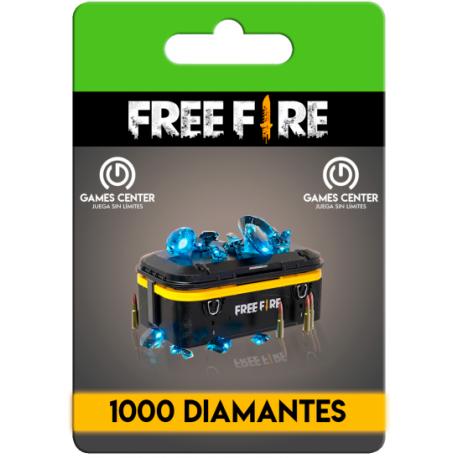 Free Fire: 1000 Diamantes (+60 bonus) - (RECARGA)