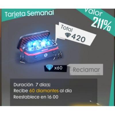 Free Fire: Tarjeta Semanal...
