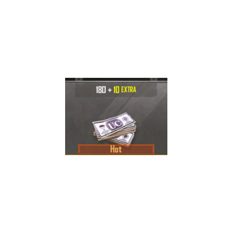 Pubg Mobile: 180 Money + 10 extra - (RECARGA)