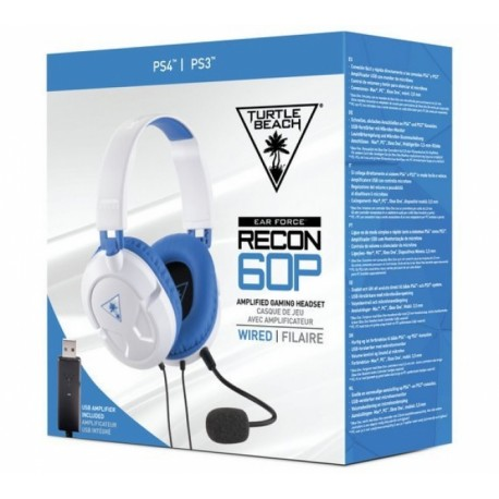 Headset EAR FORCE RECON 60P BRANCO TURTLE BEACH - PS4-PS3-PC