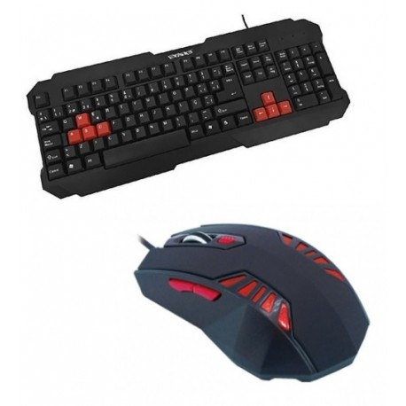 KIT GAMER SATE – MOUSE LED RED + TECLADO