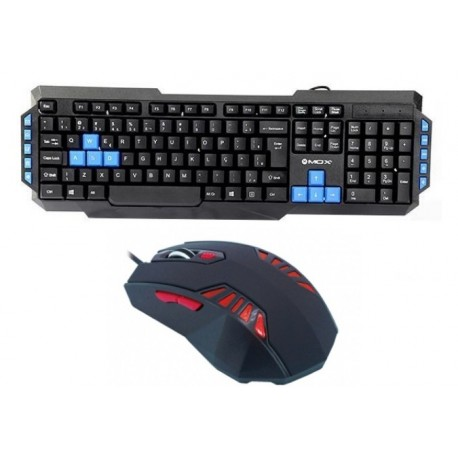 KIT GAMER MOUX – MOUSE LED RED + TECLADO MULTIMEDIA